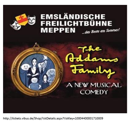 THE ADDAMS FAMILY - Theaterstück der Freilichtbühne Meppen