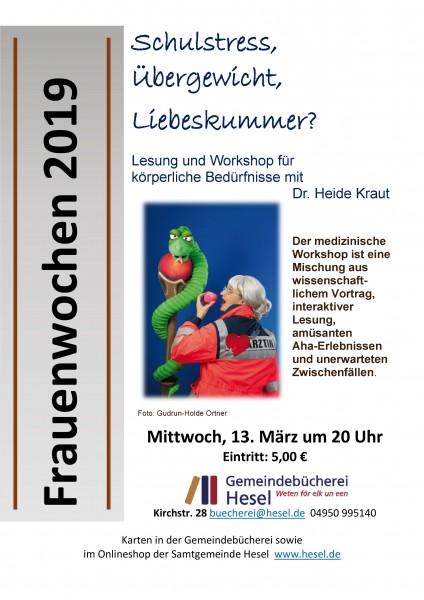 Frauenwochen 2019 - Lesung und Workshop für körperliche Bedürfnisse mit Dr. Heide Kraut